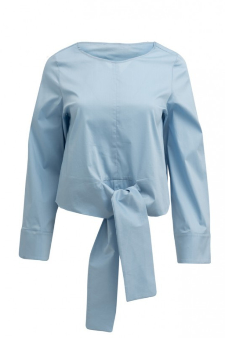 Moutaki βαμβακερό πουκάμισι με δέσιμο μπροστά
