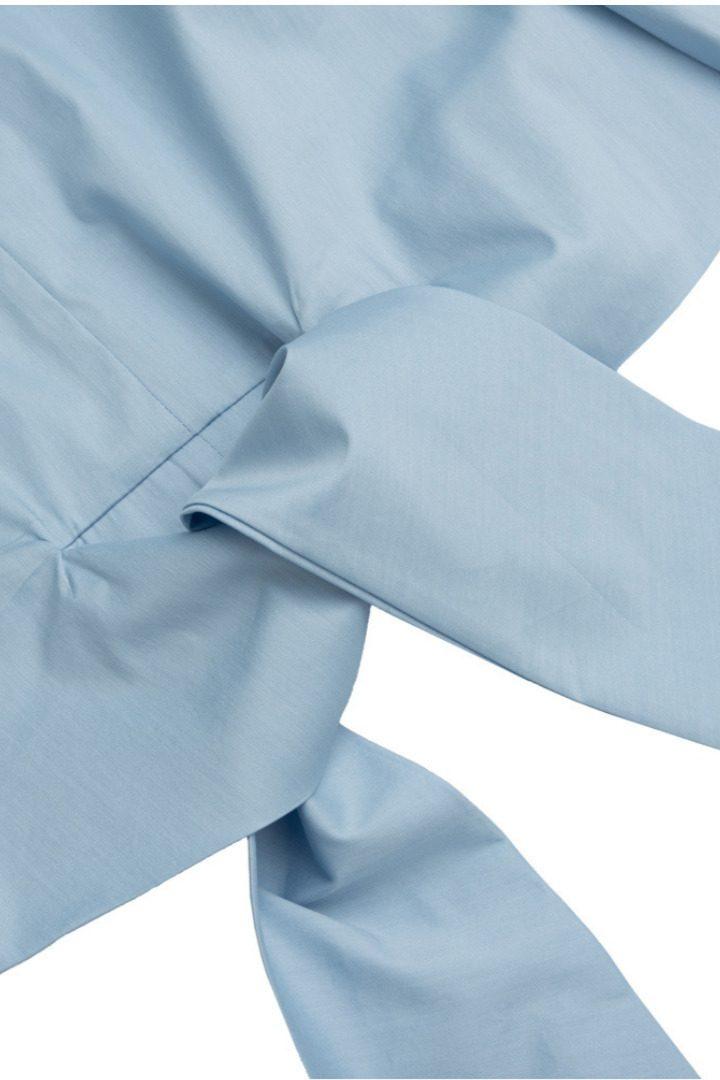 Moutaki βαμβακερό πουκάμισο με δέσιμο μπροστά