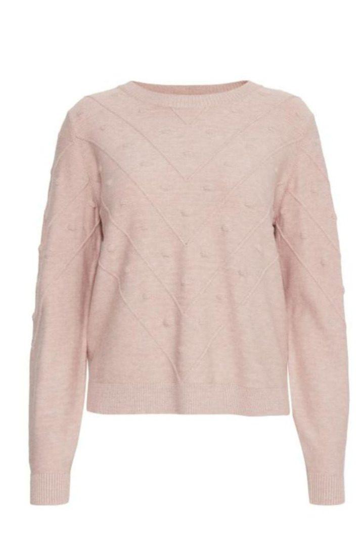 b.young ροζ παστέλ πλεκτό πουλόβερ