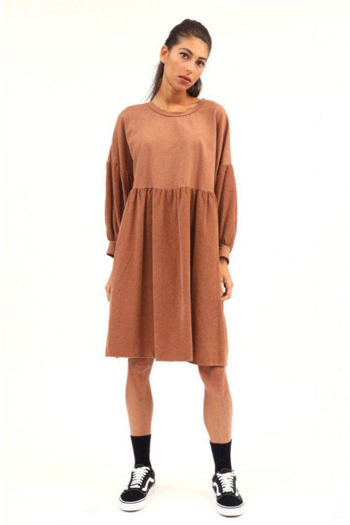 Susy mix άνετη γραμμή φόρεμα, συνδυασμένο με κοτλε