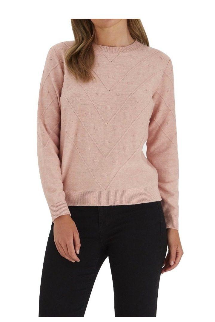 b.young γυναικείο λεπτό πουλόβερ σε ροζ χρώμα