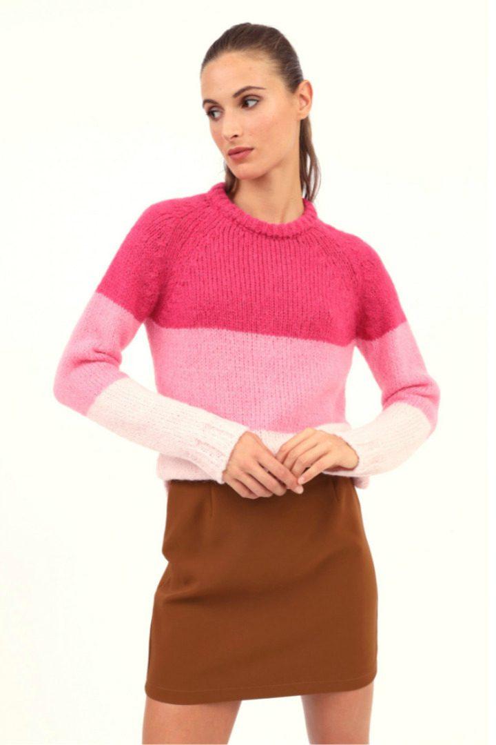 Susy mix πλεκτό πουλόβερ ριγέ