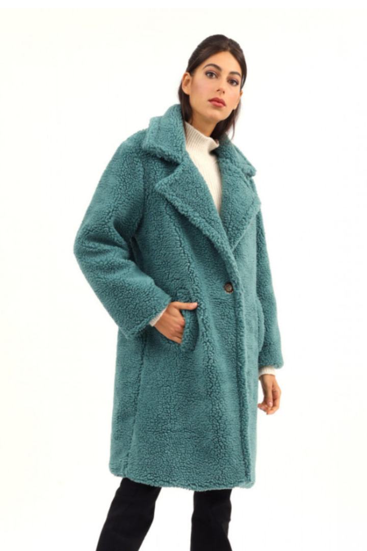 Susy mix παλτό από οικολογική γούνα