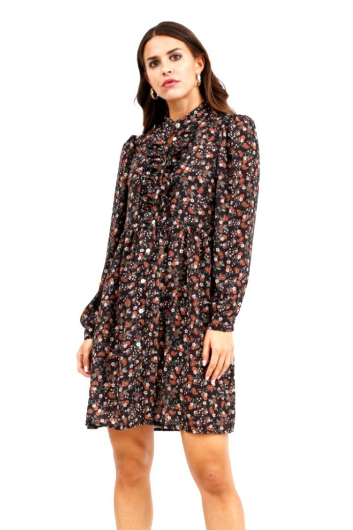 Susy mix φλοράλ κοντό φόρεμα