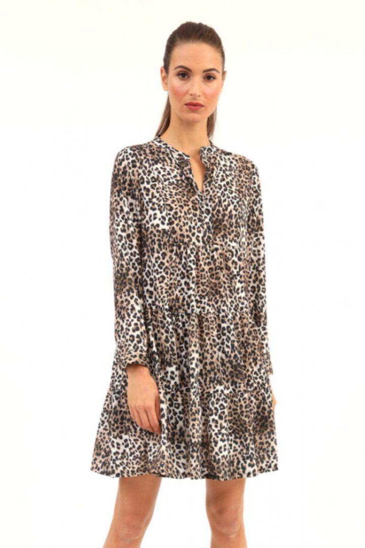 Susy mix κοντό φόρεμα άνιμαλ