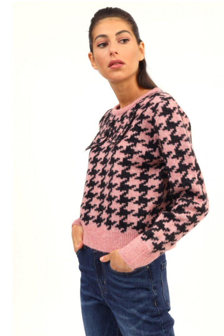 Susy mix τουίντ πλεκτό πουλόβερ