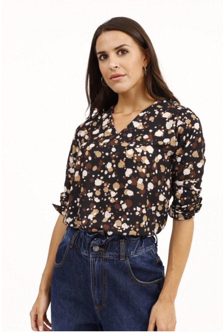 Susy mix πουά πουκάμισο