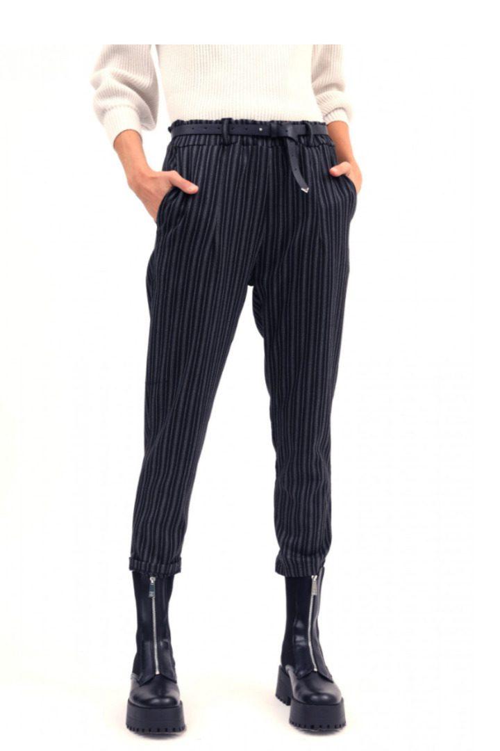 Susy mix γυναικείο ριγέ παντελόνι