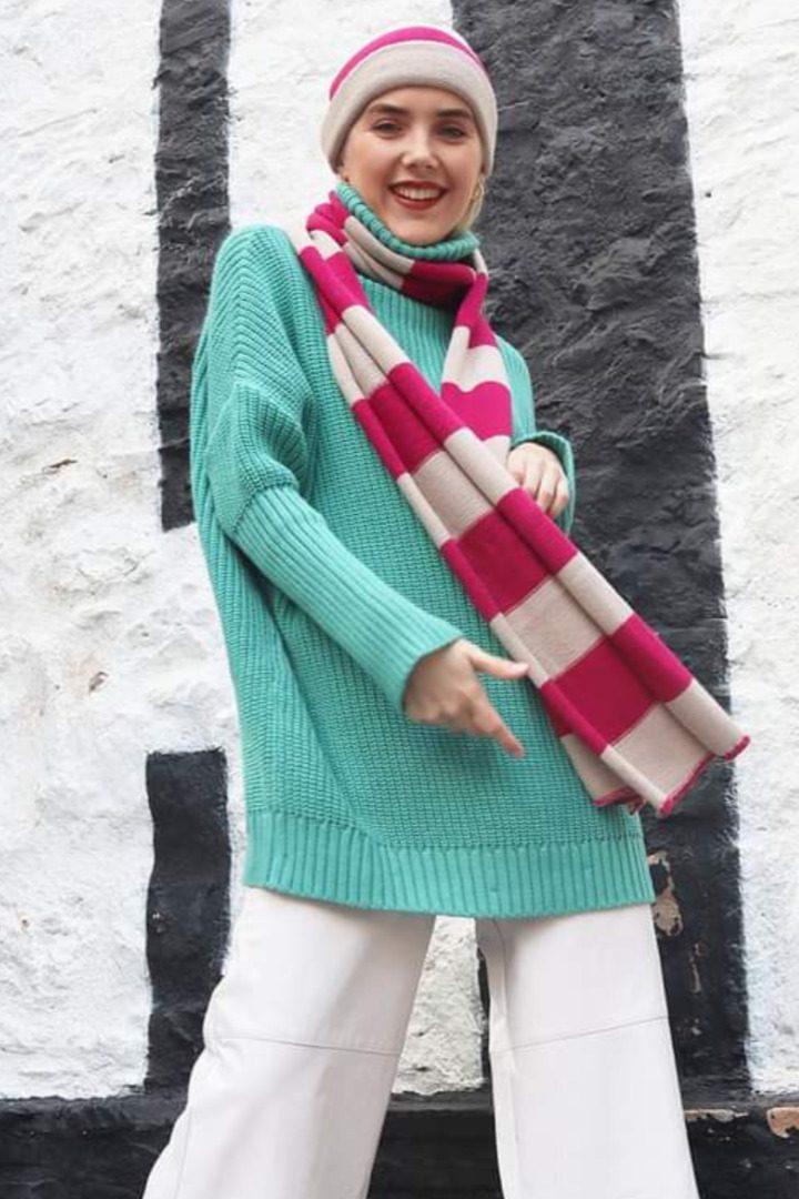 Moutaki πλεκτό πουλόβερ oversize