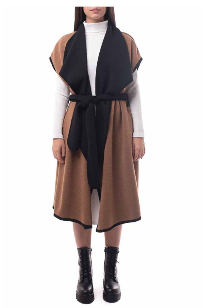 Moutaki αμάνικο παλτό