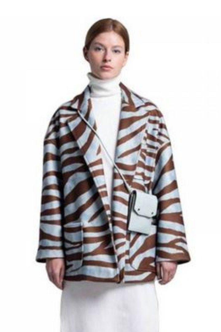 Moutaki animal print παλτό