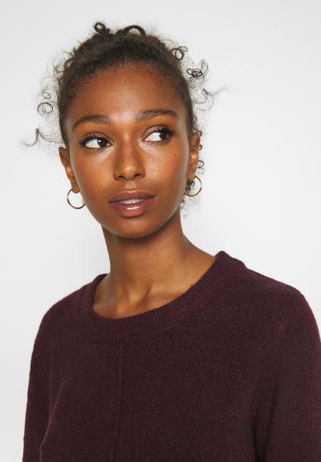 b.young πλεκτό γυναικείο πουλόβερ μπορντό