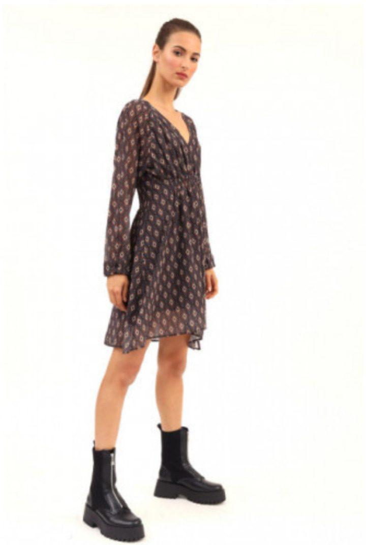 Susy mix φόρεμα με γεωμετρικά σχέδια