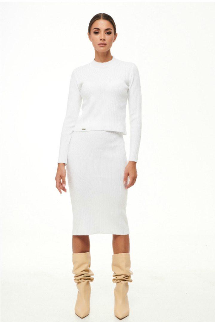 Combos knitwear μίντι πλεκτή φούστα