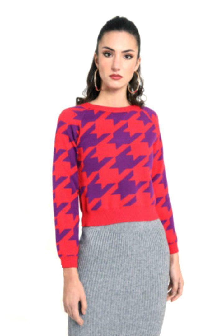 Susy mx πλεκτό πουλόβερ πιε-ντε-πουλ