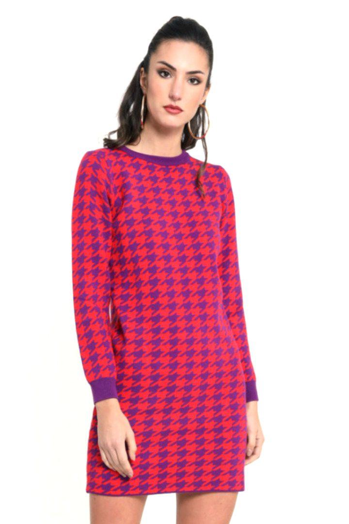 Susy mix πλεκτό μίνι φόρεμα