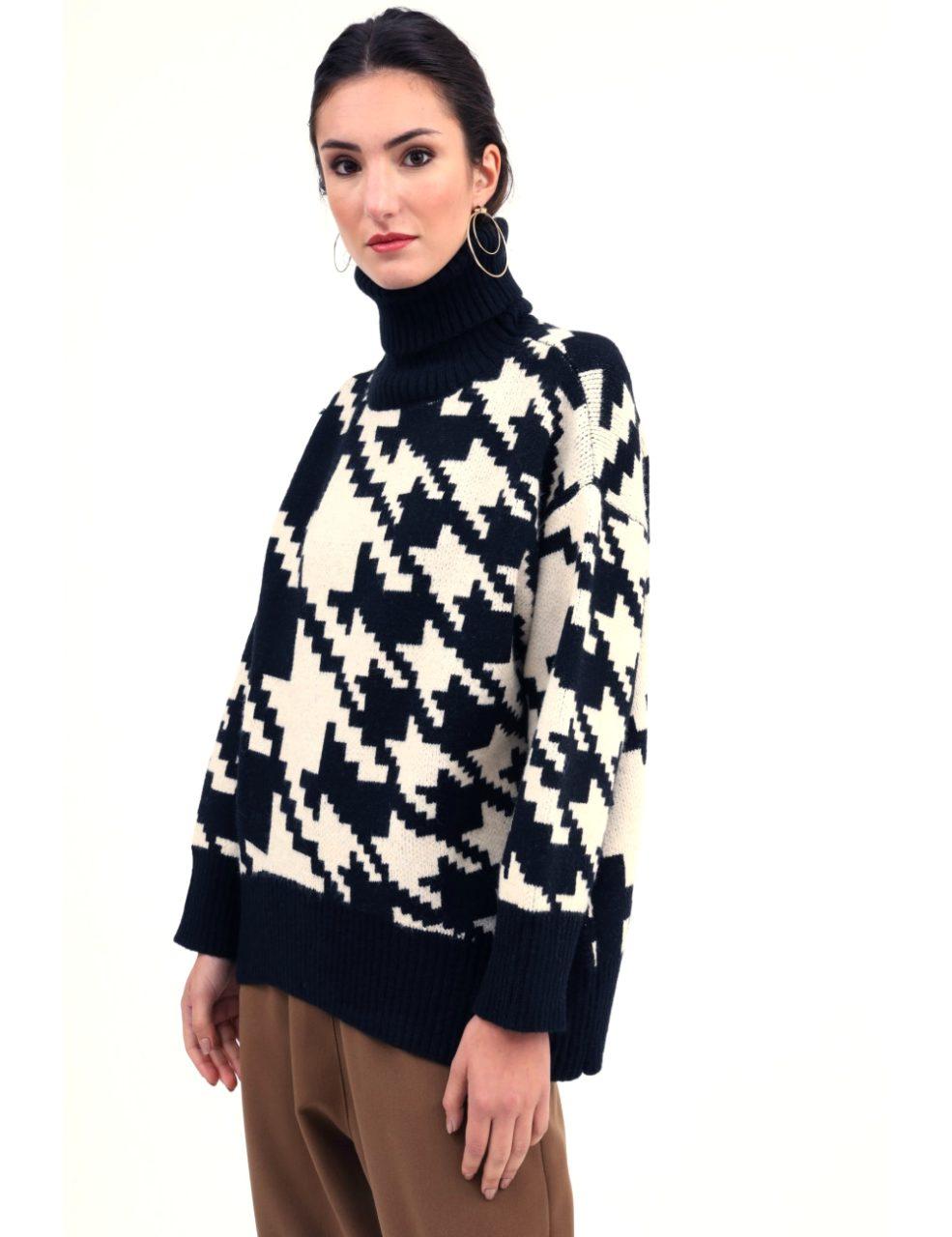 Susy mix πλεκτό πουλόβερ πιε-ντε-πουλ