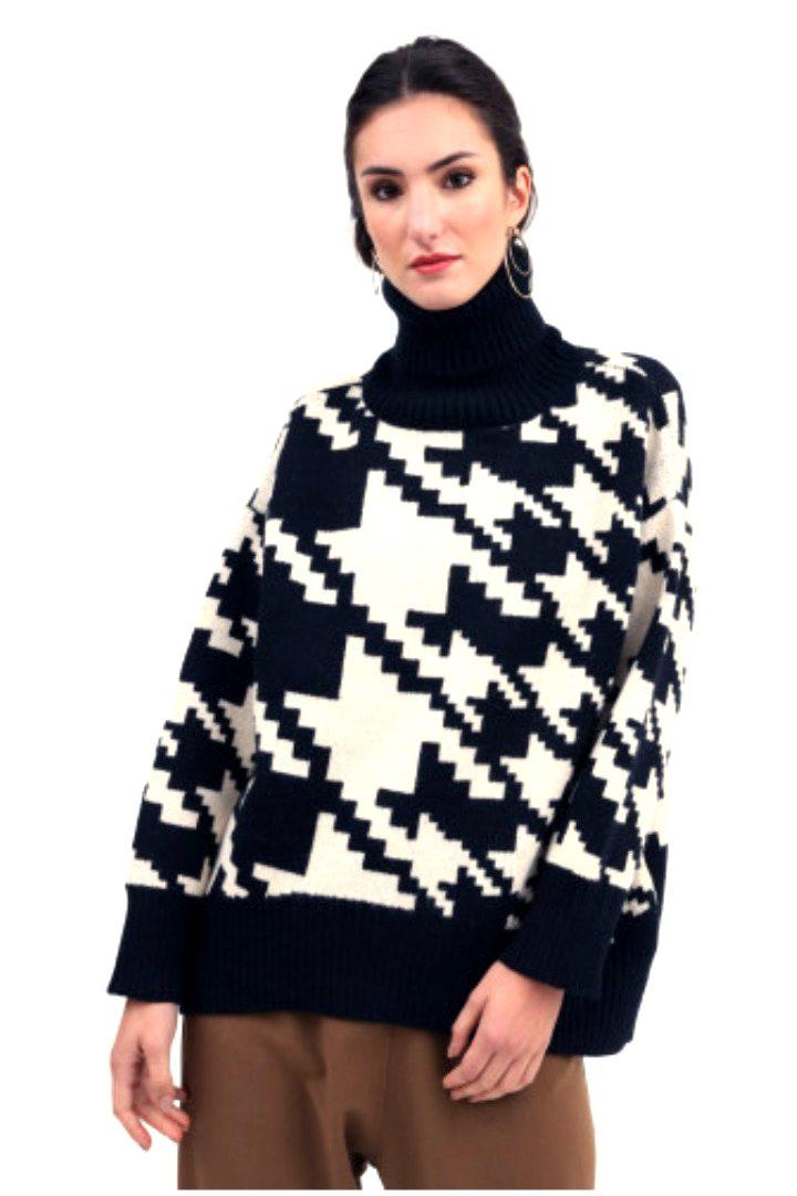 Susy mix πλεκτό πουλόβερ πιε-ντε-πούλ