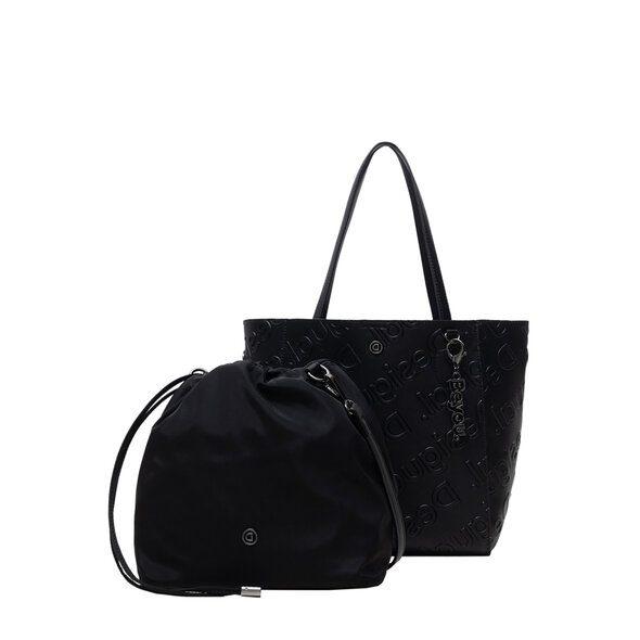 Desigual τσάντα χειρός μαύρη