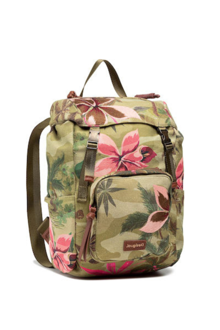 Desigual τσάντα ώμου με τυπωμένα λουλούδια