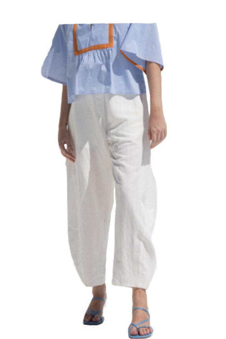 Moutaki παντελόνι άνετη γραμμή, σε λινό και βαμβάκι