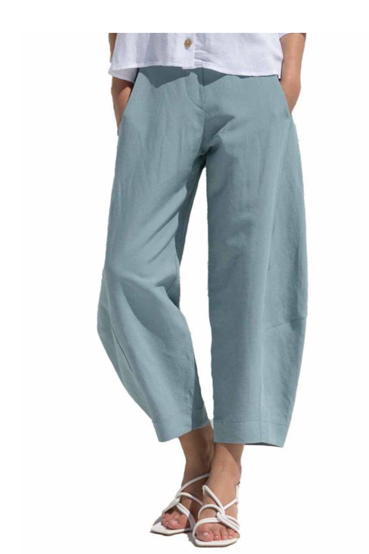Moutaki παντελόνι σε άνετη γραμμή, λινό-βαμβάκι