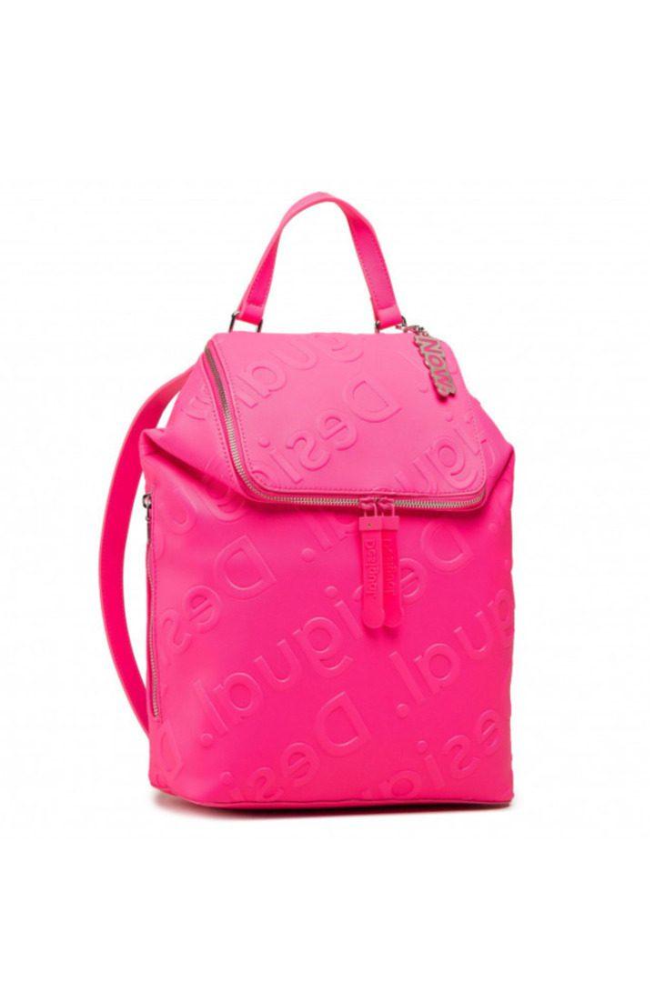 Desigual τσάντα ώμου φούξια χρώμα