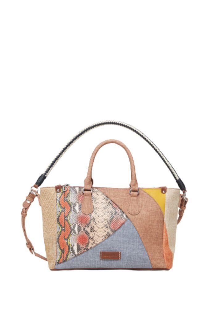 Desigual τσάντα χειρός με χρώματα
