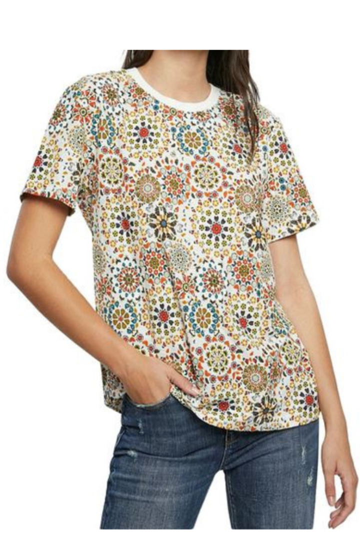 Desigual floral μπλουζάκι κοντομάνικο