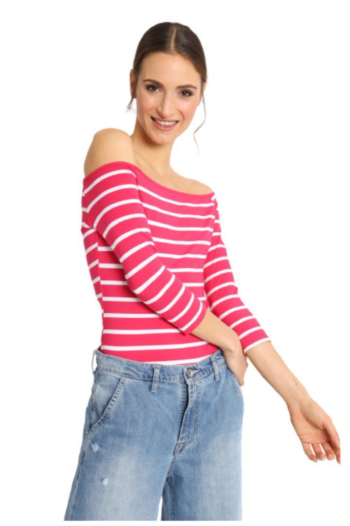 Susy mix ριγέ καλοκαιρινή μπλούζα