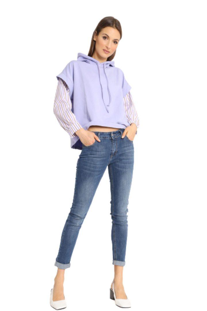 Susy mix τζην στενό παντελόνι