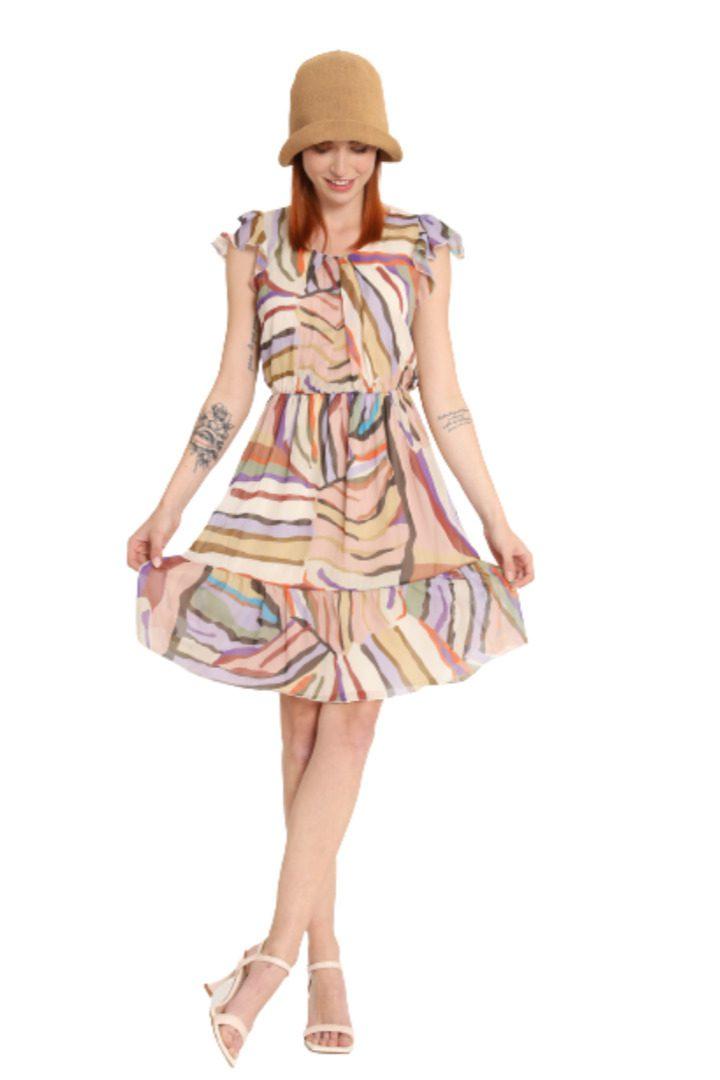 Susy mix μίνι φόρεμα πολύχρωμο