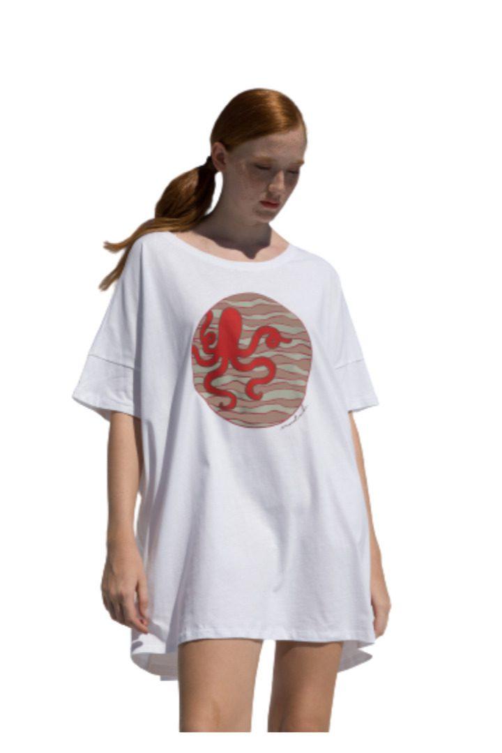 moutaki t-shirt βαμβακερό