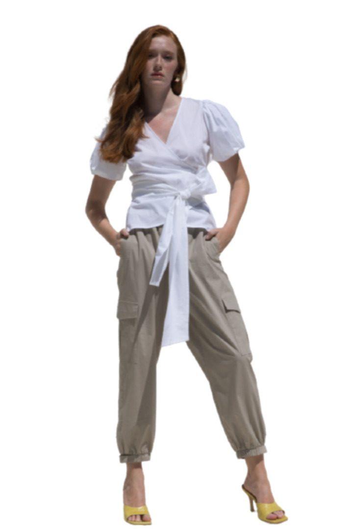 Moutaki σαφάρι καλοκαιρινό παντελόνι