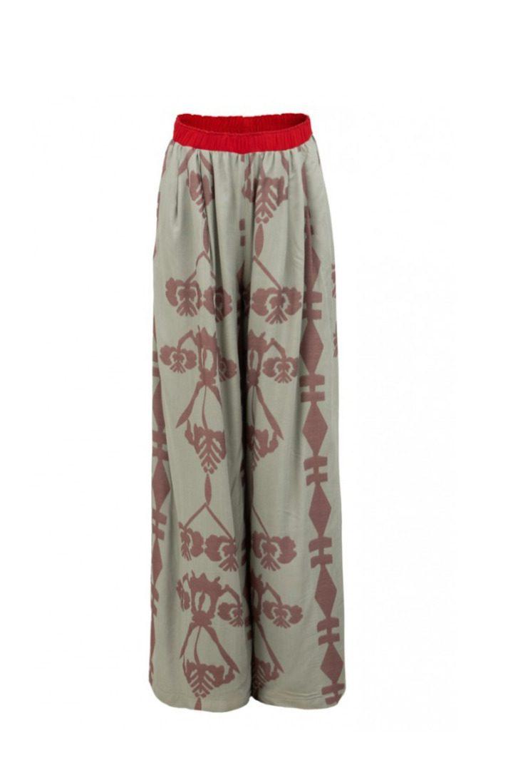 Moutaki καλοκαιρινή παντελόνα με σχέδια