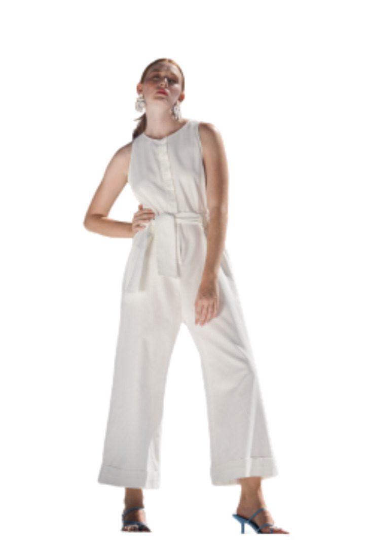 Moutaki ολόσωμη λευκή φόρμα