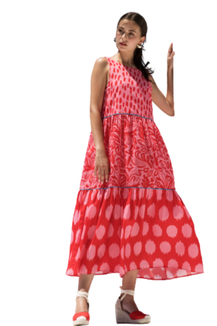 Moutaki μάξι φόρεμα καλοκαιρινό