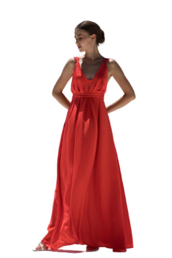 Moutaki βραδινό φόρεμα κόκκινο