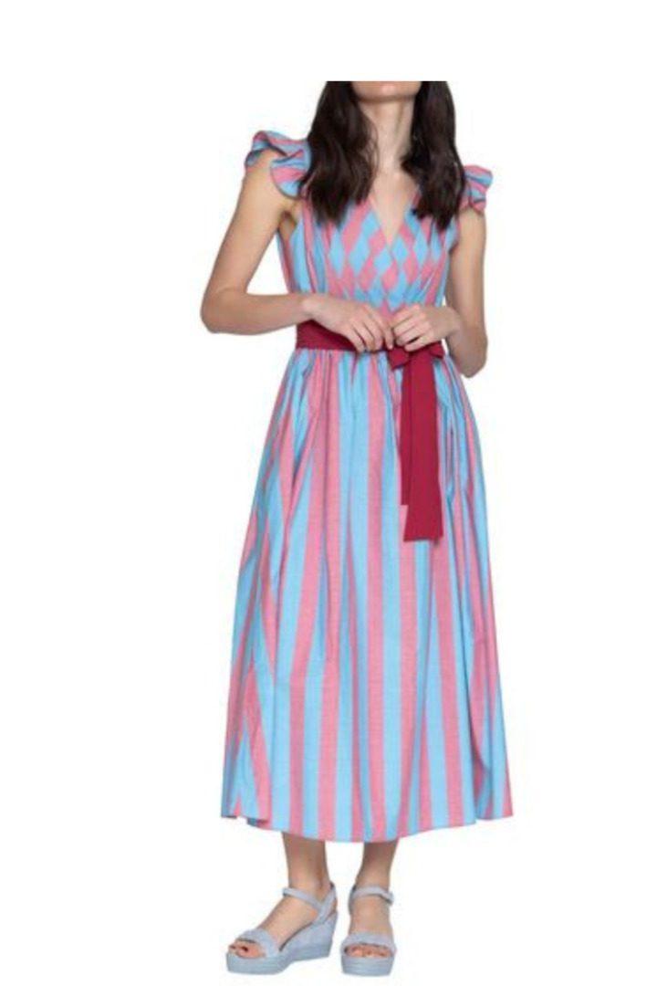 Moutaki μακρύ φόρεμα καλοκαιρινό