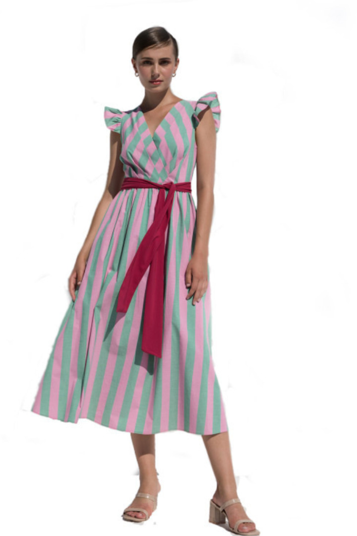 Moutaki maxi φόρεμα καλοκαιρινό ριγέ