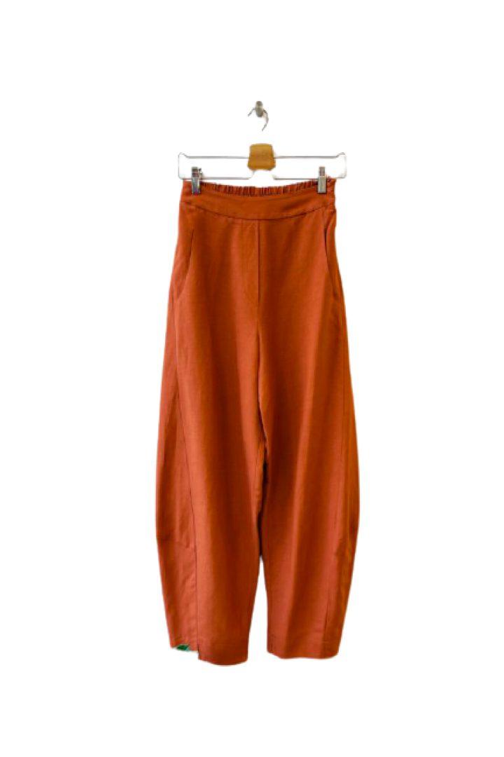 Moutaki λινό-βαμβάκι παντελόνι σε άνετη γραμμή