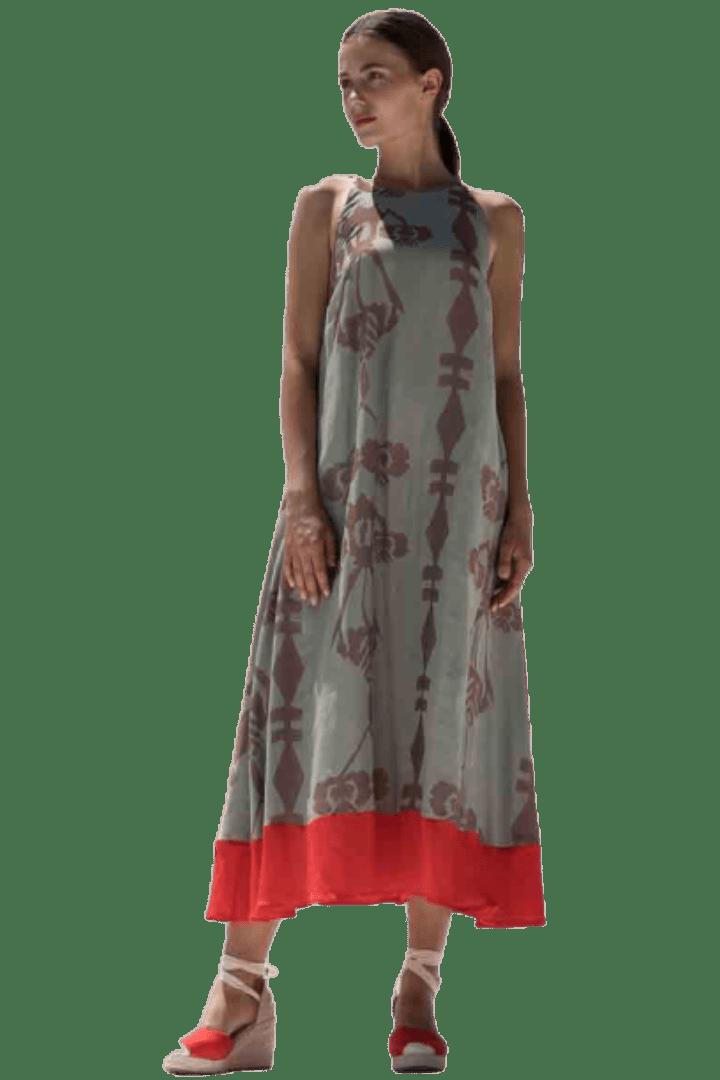 Moutaki midi καλοκαιρινό φόρεμα