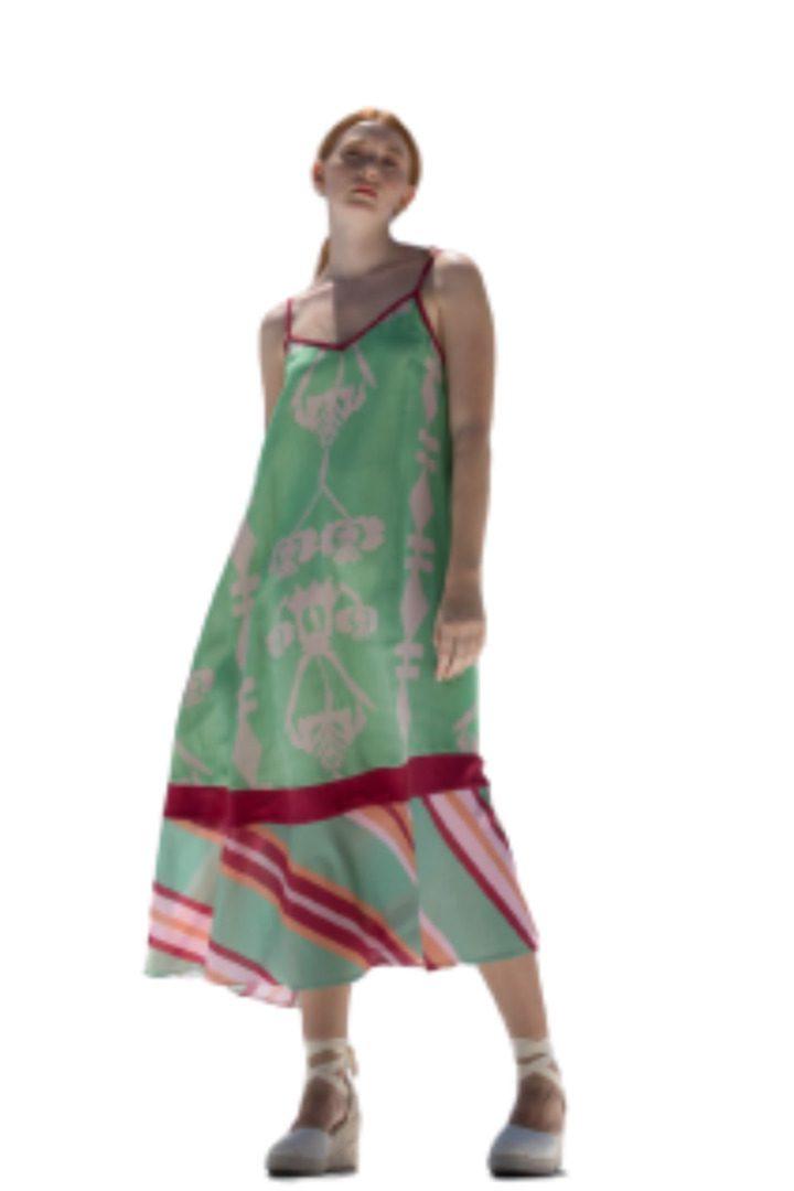 Moutaki μίντι φόρεμα τιραντάκι