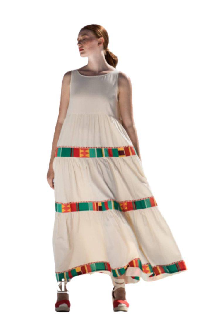 Moutaki αέρινο καλοκαιρινό φόρεμα