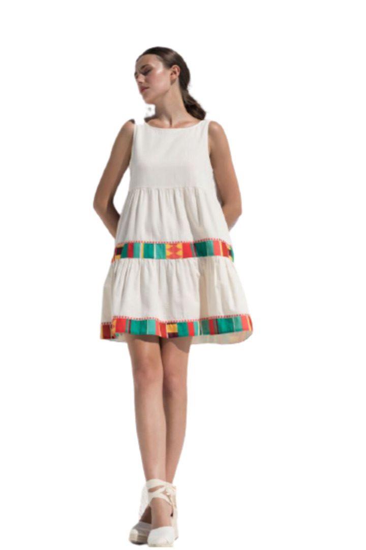 Moutaki μίνι φόρεμα καλοκαιρινό