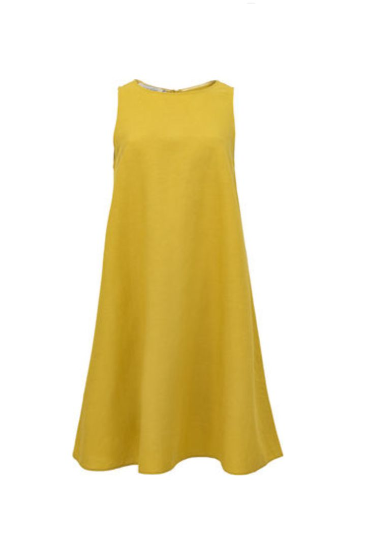 Moutaki λινό φόρεμα σε άνετη γραμμή