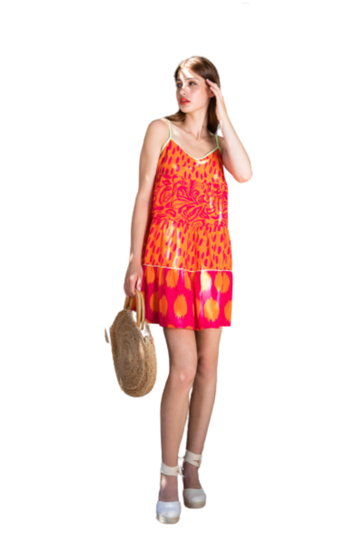 Moutaki μίνι φόρεμα τιραντάκι