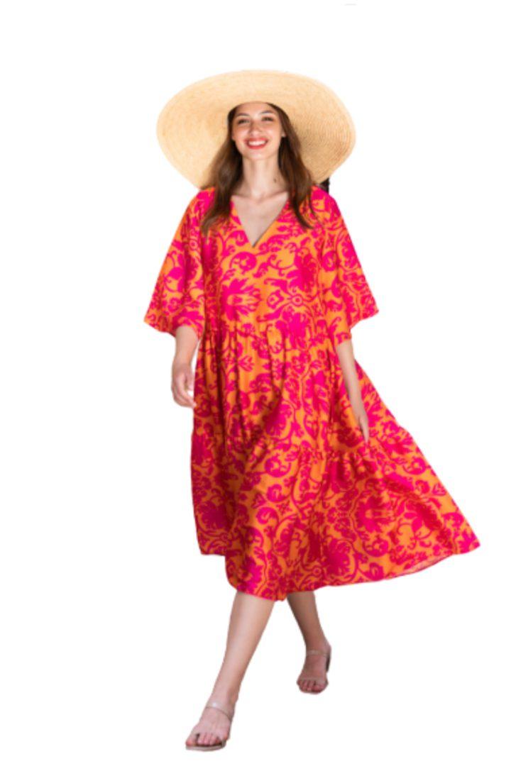 Moutaki μίντι φόρεμα σε χαλαρή γραμμή