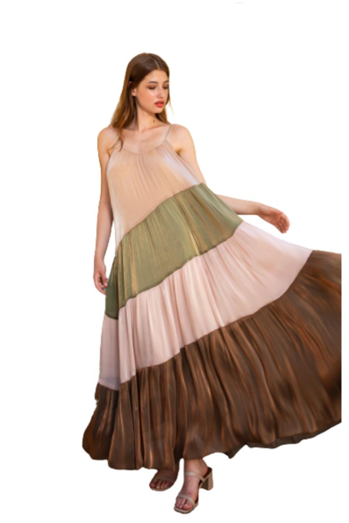 Moutaki μάξι πολύχρωμο φόρεμα