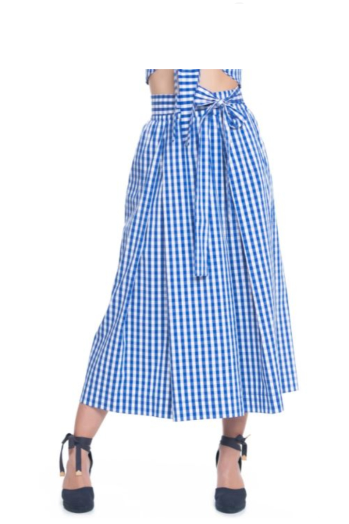 Moutaki καρό μίντι φούστα